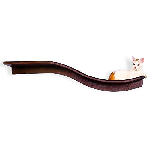 Lotus Branch Cat Shelf - Mahogany