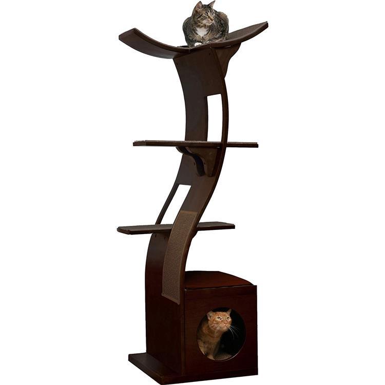 Lotus Cat Tower - Espresso