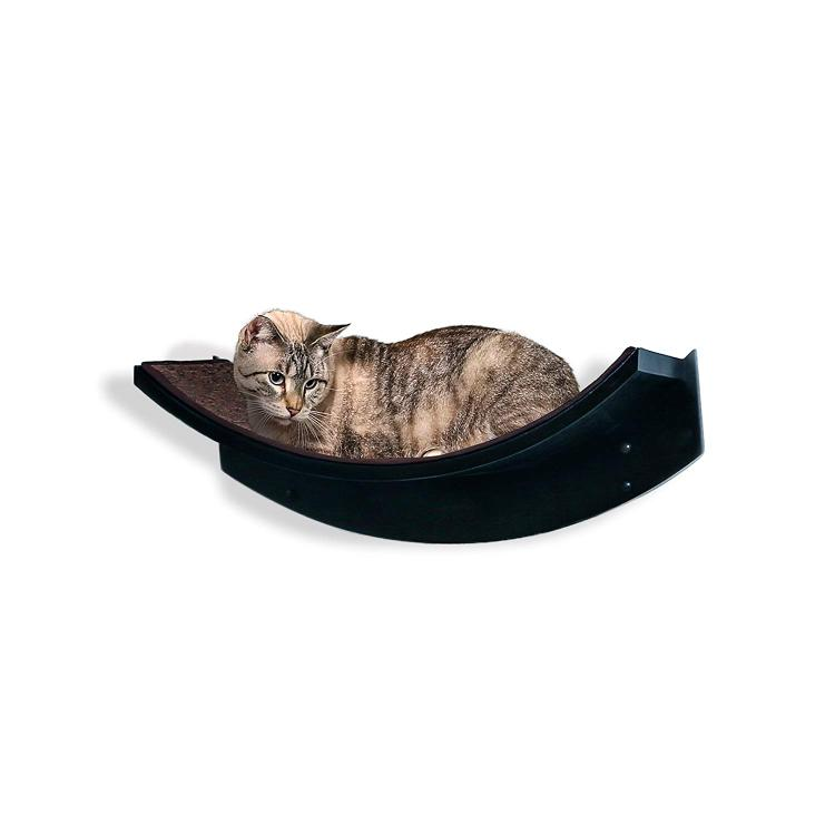 The Refined Feline Lotus Leaf Cat Shelf - Espresso