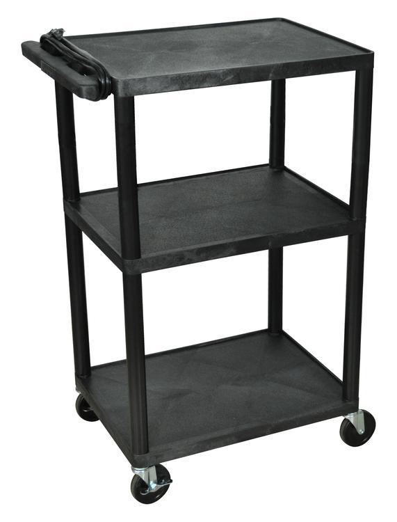 Luxor A/V Cart - Three Shelves, Electric