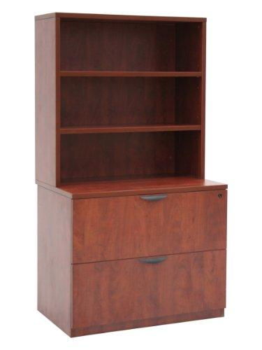 Legacy Lateral File with Open Hutch- Cherry [Item # LPLFH3665CH]