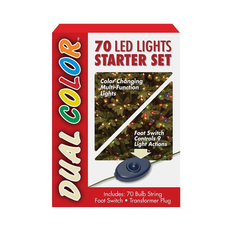 National Tree 70 Bulb Dual Color LED Light String STARTER SET, 9 Function [Item # LS21-801-70]