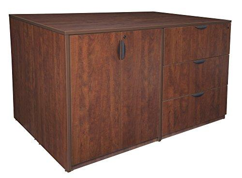 Legacy Stand Up 2 Storage Cabinet/ 2 Lateral File Quad- Cherry