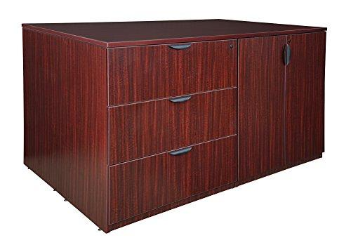Legacy Stand Up 2 Storage Cabinet/ 2 Lateral File Quad- Mahogany