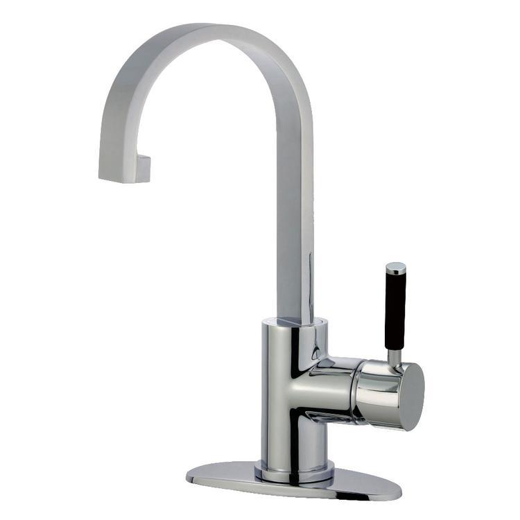 Fauceture LS8211DKL Kaiser Single-Handle Lavatory Faucet with Push Pop-Up Drain, Polished Chrome