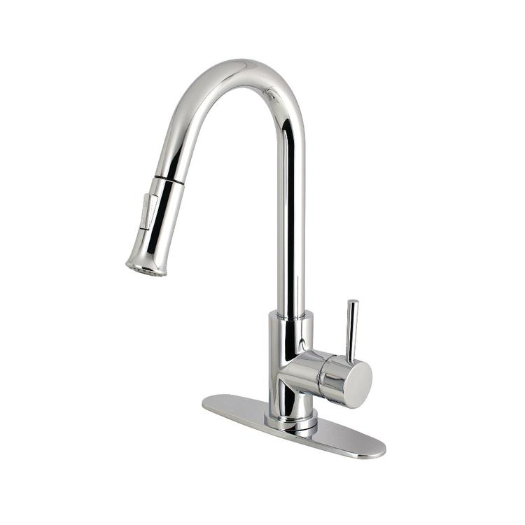 Gourmetier LS8405DL Concord Single-Handle Kitchen Faucet with Pull-Down Sprayer, Oil Rubbed Bronze - [LS8621DL]