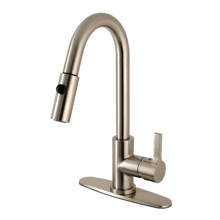 Gourmetier LS8788CTL Continental Single-Handle Pull-Down Kitchen Faucet, Brushed Nickel