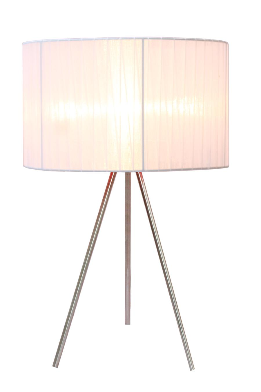 Sheer Silk Band Tripod Table Lamp