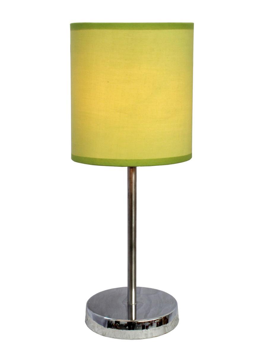 Chrome Basic Table Lamp with Shade