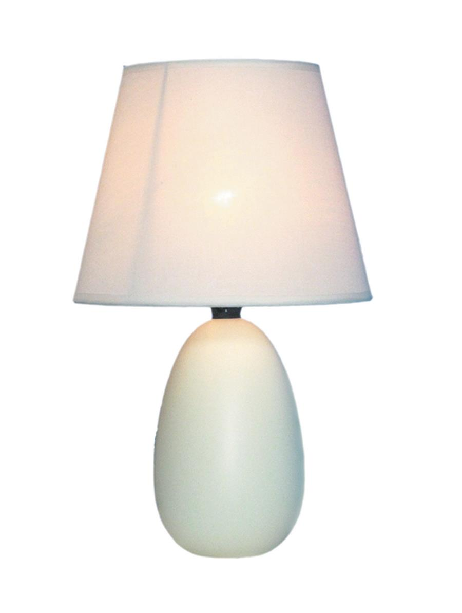 Small Oval Ceramic Table Lamp