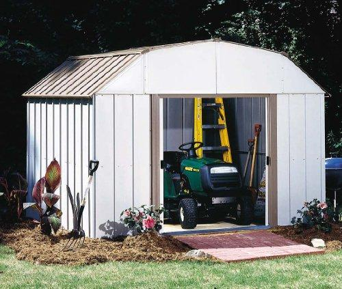 Arrow Sheds Lexington, 10x14, Electro Galvanized Steel, Taupe / Eggshell, Gambrel Gable, 62