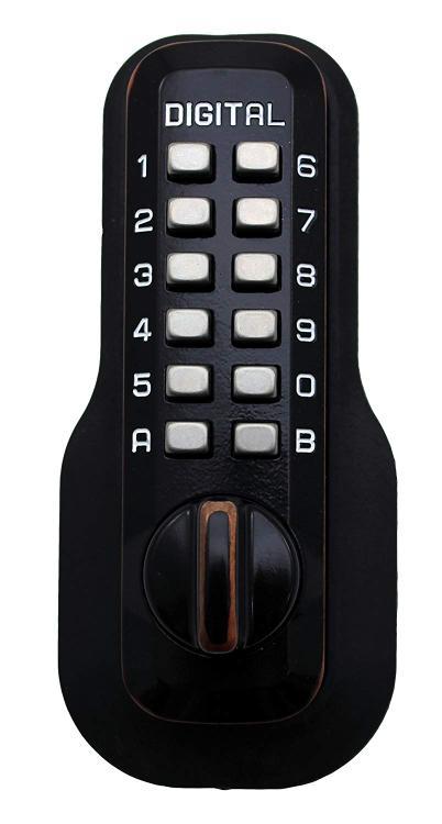 Lockey Digital Door Lock M210 Mechanical Keyless Deadbolt, Oil Rubbed Bronze [Item # M210OIL]