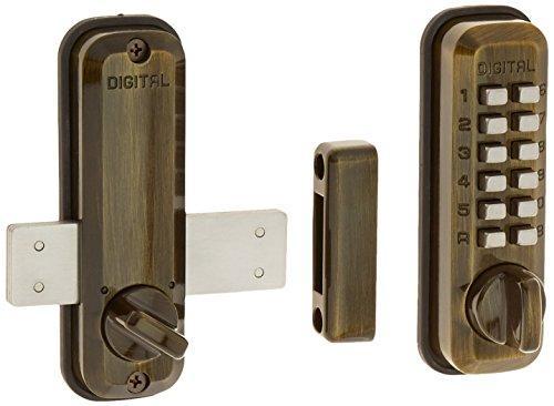 Digital Door Lock M220 Surface Mount Deadbolt, Antique Brass [Item # M220AB]