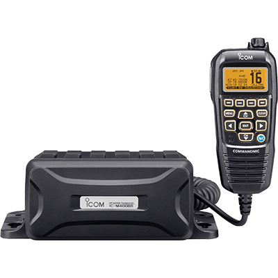VHF, Black Box w/Grey CommandMic IV [Item # M400BBA]