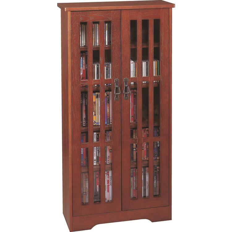 Inlaid Glass Mission Multimedia Cabinet (M-371 Series)
