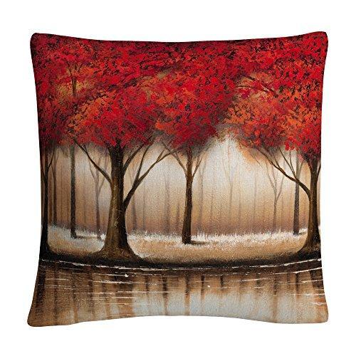 Rio 'Parade Of Red Trees' Decorative Throw Pillow