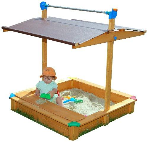 MAXI Sandbox with Toy Storage Box/seat and adjustable roof/cover