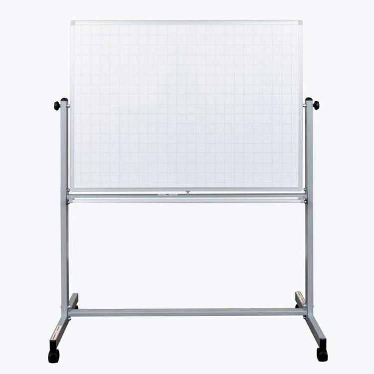 Luxor 48? x 36? Mobile Magnetic Double-Sided Ghost Grid Whiteboard