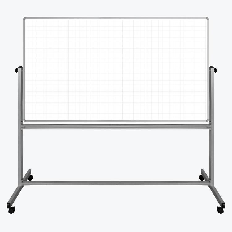 Luxor 72? x 40? Mobile Magnetic Double-Sided Ghost Grid Whiteboard