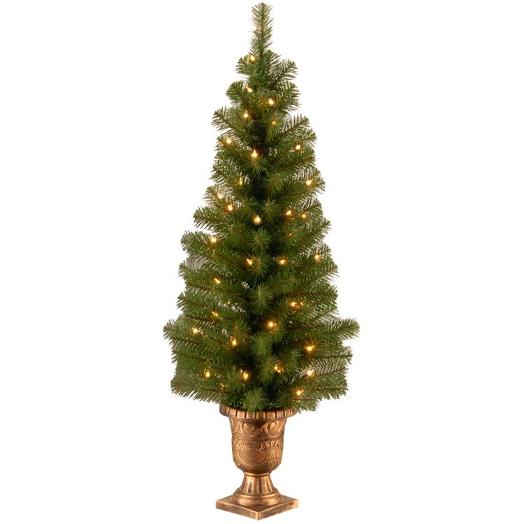 National Tree Montclair Spruce Entrance Tree with Clear Lights