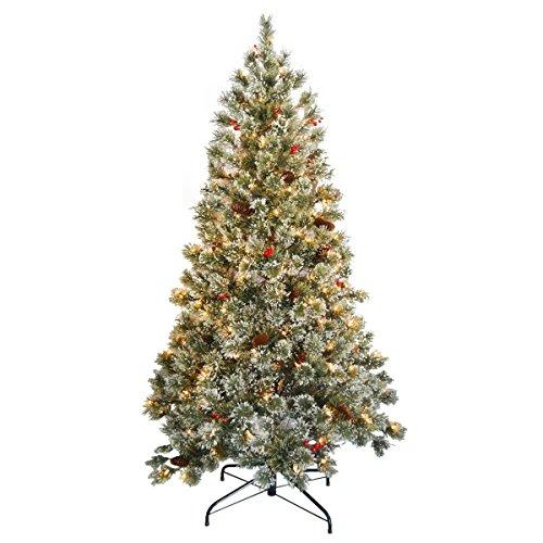National Tree Crystal Cashmere Tree with Clear Lights