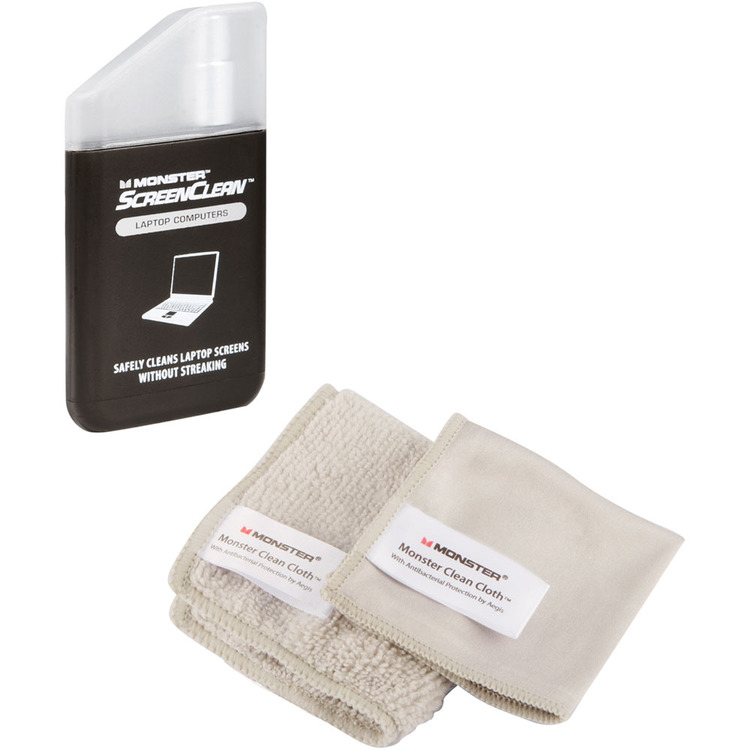 MONSTER MCCLNKITLTOP ScreenClean Laptop Cleaning Kit with 2 Cloths