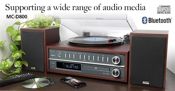 Audio Turntable System With USB Cherry