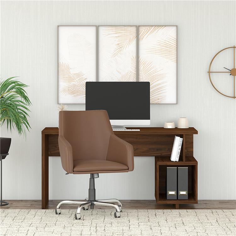 Kathy Ireland Home by Bush Furniture Madison Avenue 60W Writing Desk and Chair Set