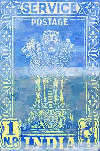 India Postage by Parvez Taj Painting Print on Wrapped Canvas