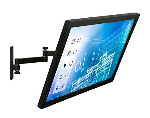 Mount-It! Computer Monitor Wall Mount Arm, Full Motion Tilting Arm For Single Flat Panel LCD, LED Displays Fits Monitors up to 30 Inches, VESA 75 and 100 Compatible, 33 lb Capacity Black (MI-404)