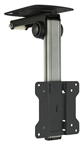 Mount-It! TV Ceiling Mount Kitchen Under Cabinet TV Bracket Folding, Retractable, 90 Degree Tilt, Fold Down, Swivel for 13 to 27 inch LCD, TV, LED, Monitor, Flat Screens up to VESA 100x100 (MI-4211)