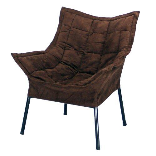Casual Home Milano Metal Chair Metal Frame- Black With Brown Outer Cover