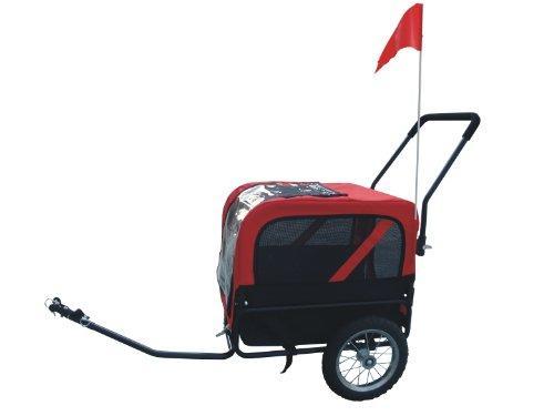 Comfy MK1484 Pet Bike Trailer/Jogging Stroller Small - Red/Black