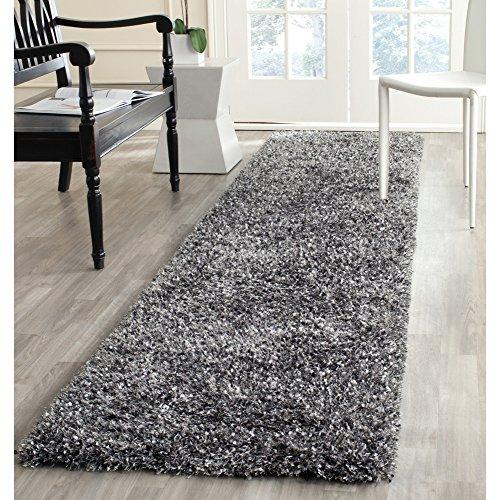 Shag & Flokati Rug - Malibu Shag Polyester Pile -Charcoal