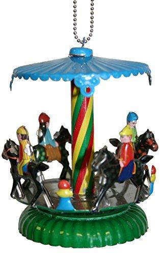 Alexander Taron Importer MM277 Collectible Tin Ornament-Horse Carousel-3.5