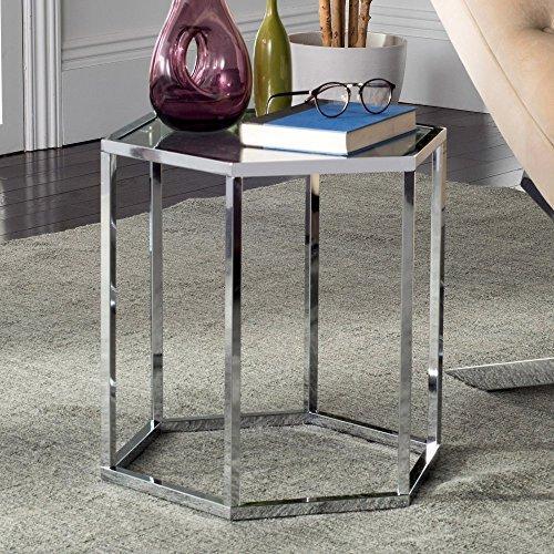 Teagan Glass End Table