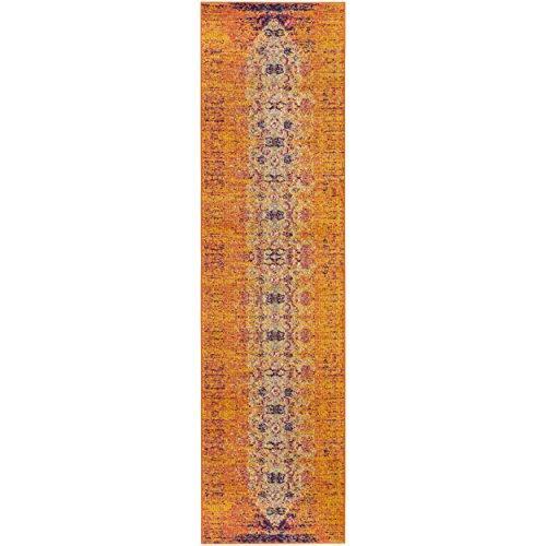 Traditional Rug - Monaco Polypropylene -Orange/Multi