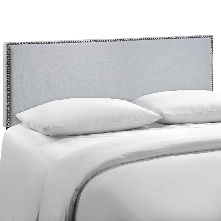 Region Queen Nailhead Upholstered Headboard
