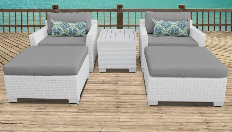 Monaco 5 Piece Outdoor Wicker Patio Furniture Set