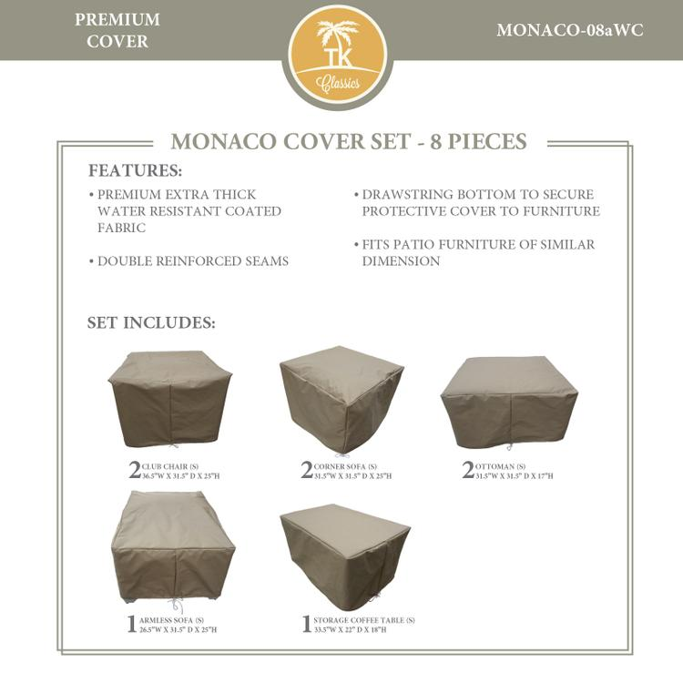 MONACO-08a Protective Cover Set, in Grey