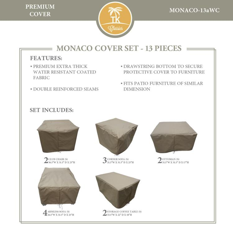 MONACO-13a Protective Cover Set, in Grey
