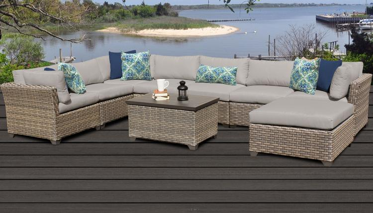Monterey 9 Piece Outdoor Wicker Patio Furniture Set 09b