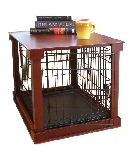 Cage with Crate Cover, Mohogany, Medium
