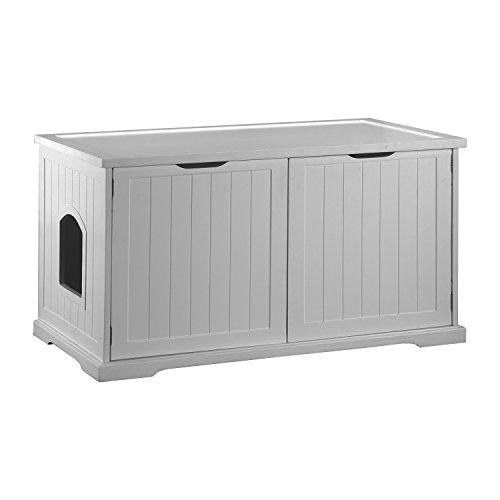 Cat Washroom Bench, White