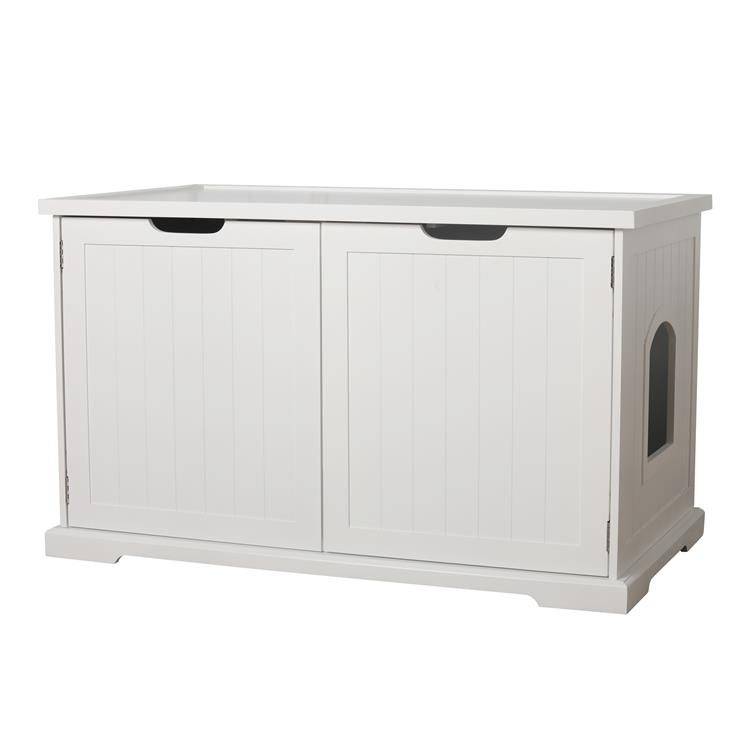 Zoovilla Large Cat Washroom Bench, White
