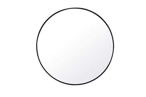 Living District Metal frame Round Mirror 42 inch Black finish