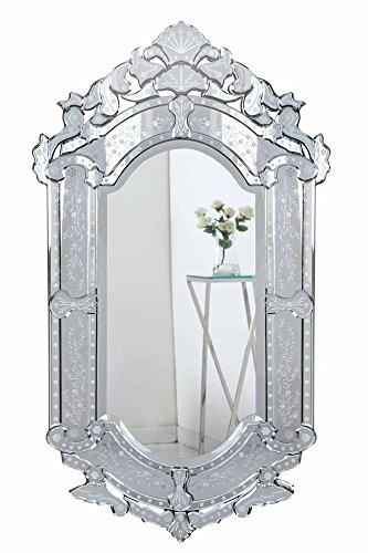 Elegant Decor Venetian 27.6 in. Transitional Mirror in Clear