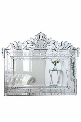 Venetian 59 in. Transitional Mirror in Clear