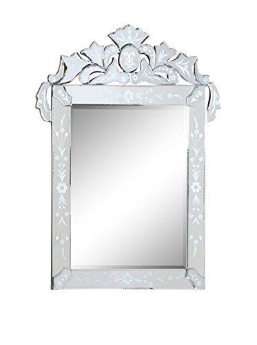Elegant Decor Venetian 27.6 in. Transitional Mirror in Clear