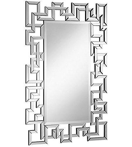Elegant Decor Modern 30 in. Contemporary Mirror in Clear